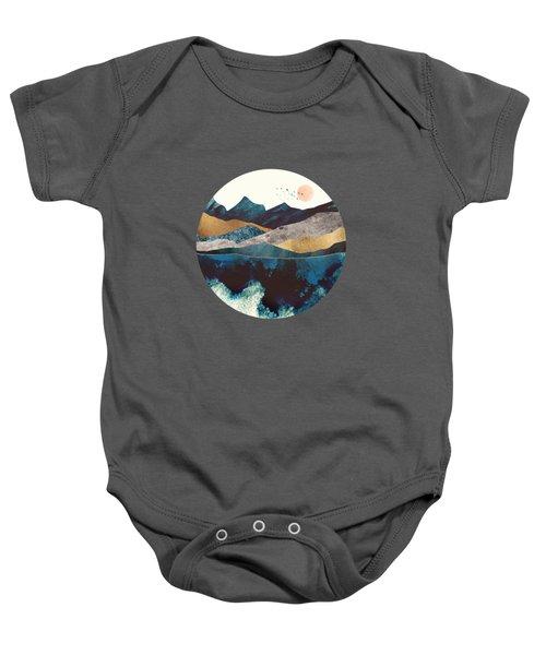 Blue Mountain Reflection Baby Onesie