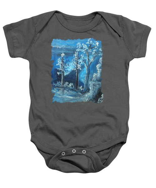 Blue Nature Baby Onesie