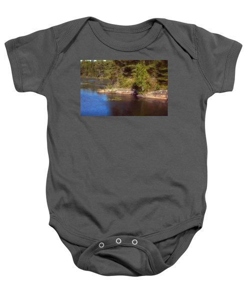 Blue Pond Marsh Baby Onesie