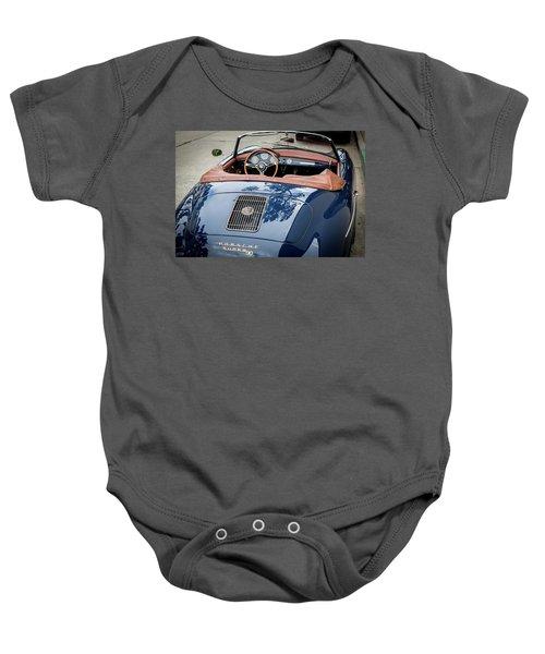 Blue Porche 356 Baby Onesie