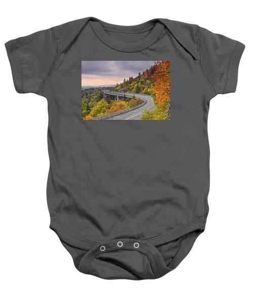 Lynn Cove Viaduct-blue Ridge Parkway  Baby Onesie