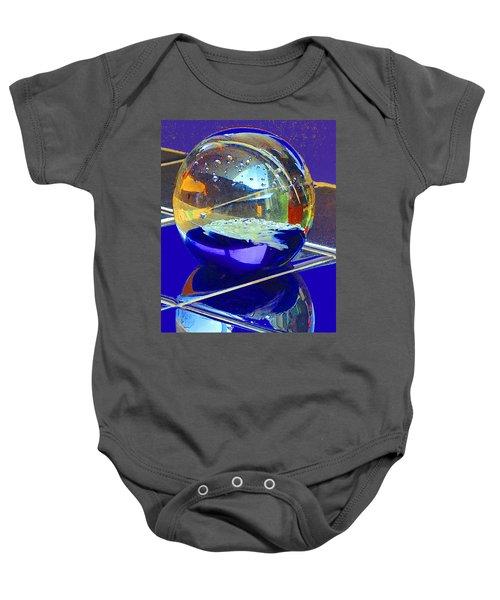 Blue Sphere Baby Onesie