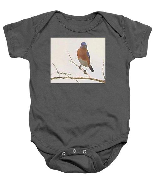 Bluebird Stare  Baby Onesie