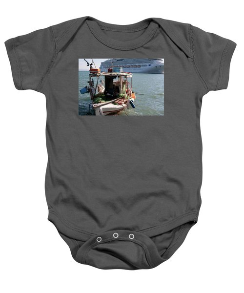Boat And Ship Baby Onesie