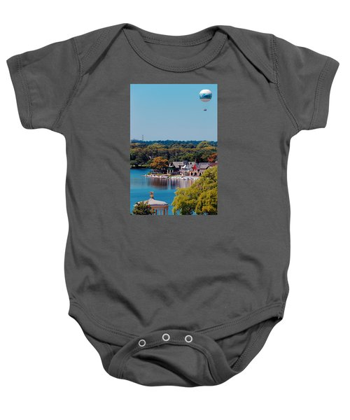 Boat House Row Baby Onesie