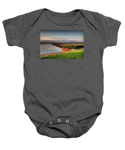 Boat On A Minnesota Lake Baby Onesie