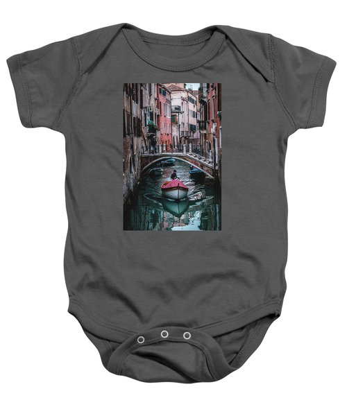 Boat On The River Baby Onesie
