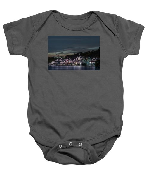 Boathouse Row Philly Pa Night Baby Onesie
