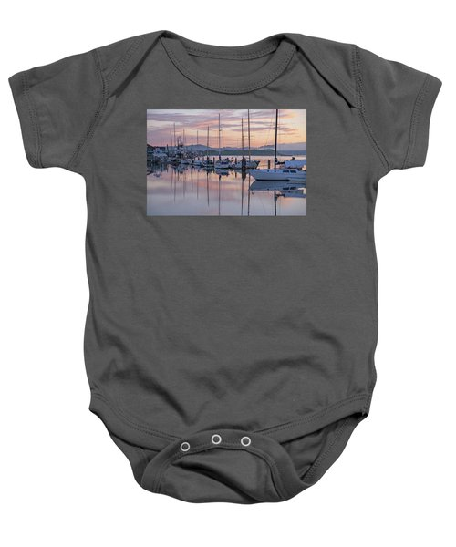 Boats In Pastel Baby Onesie