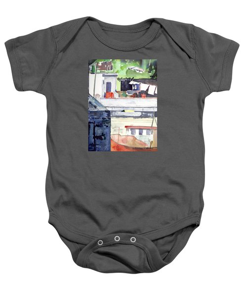 Boats On The Quay Baby Onesie