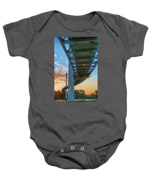 Bob Kerry Bridge At Sunrise-2 Baby Onesie