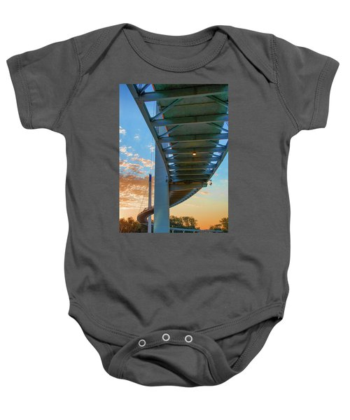 Bob Kerry Bridge At Sunrise-2 Baby Onesie