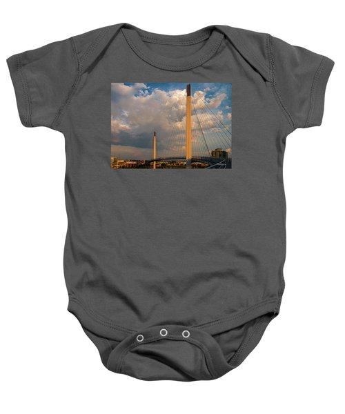 Bob Kerry Bridge At Sunrise-3 Baby Onesie