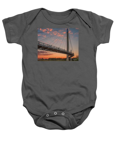 Bob Kerry Bridge At Sunrise-4 Baby Onesie