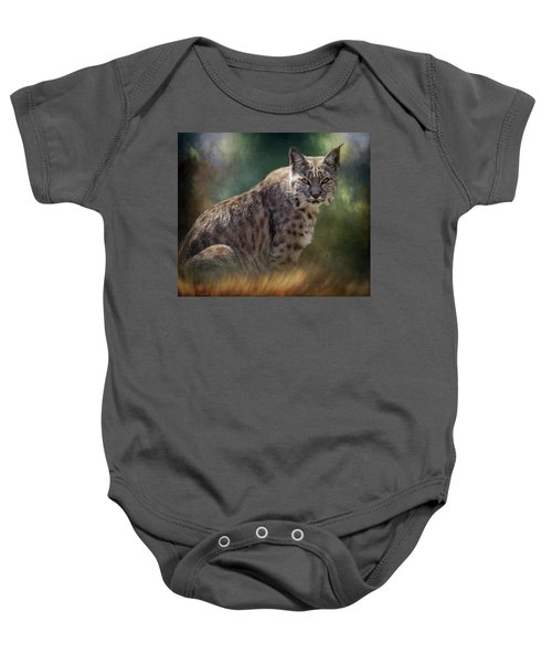 Bobcat Gaze Baby Onesie