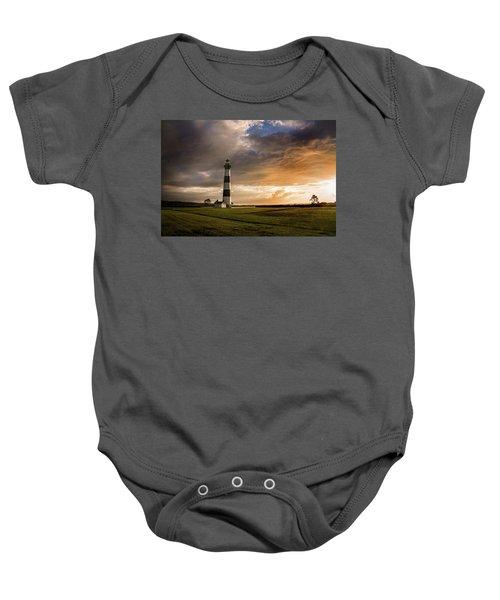 Bodie Lighthous Landscape Baby Onesie