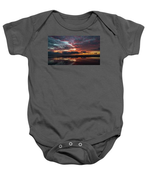 Bold Sunrise Delray Beach Florida Baby Onesie