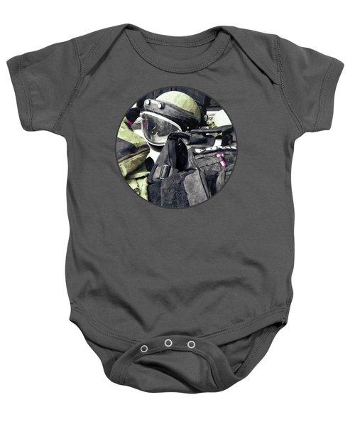 Bomb Squad Uniform Baby Onesie