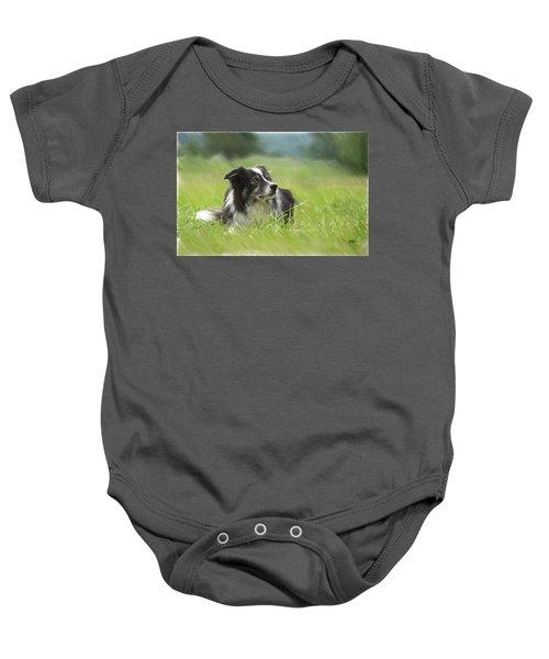 Border Collie - Dwp2189332 Baby Onesie