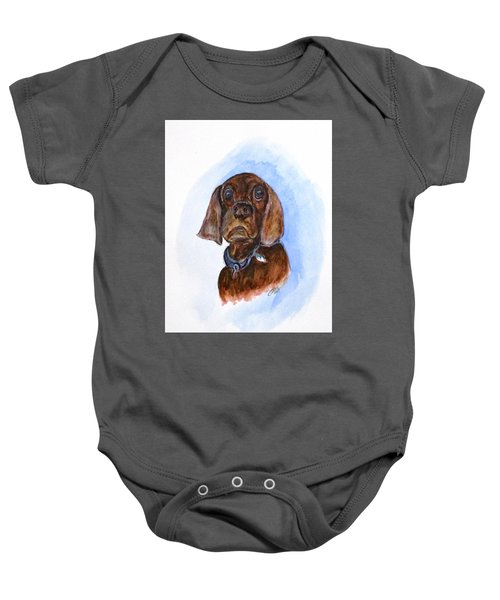Bosely The Dog Baby Onesie