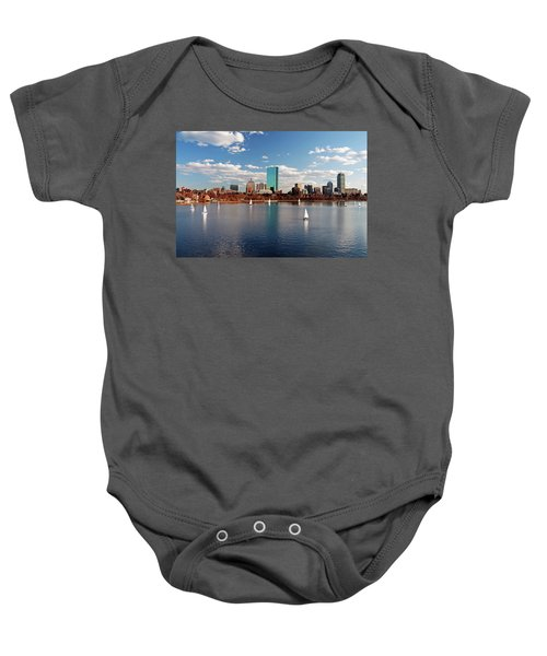 Boston On The Charles  Baby Onesie
