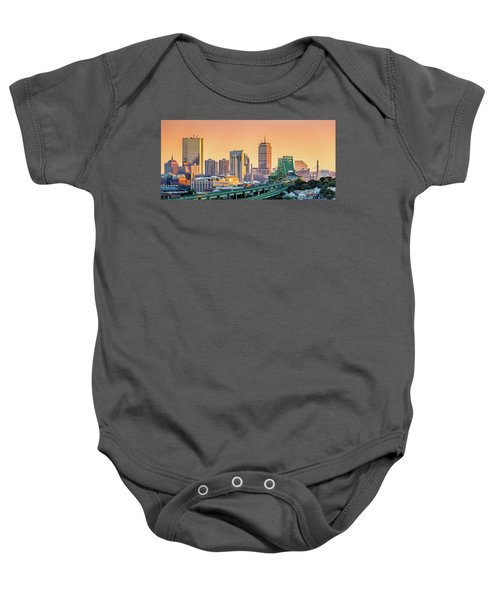 Boston Skyline Baby Onesie