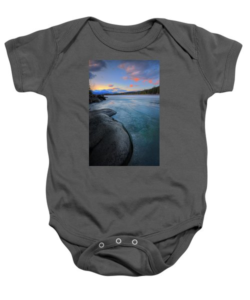 Boulders And Ice On The Athabasca River Baby Onesie