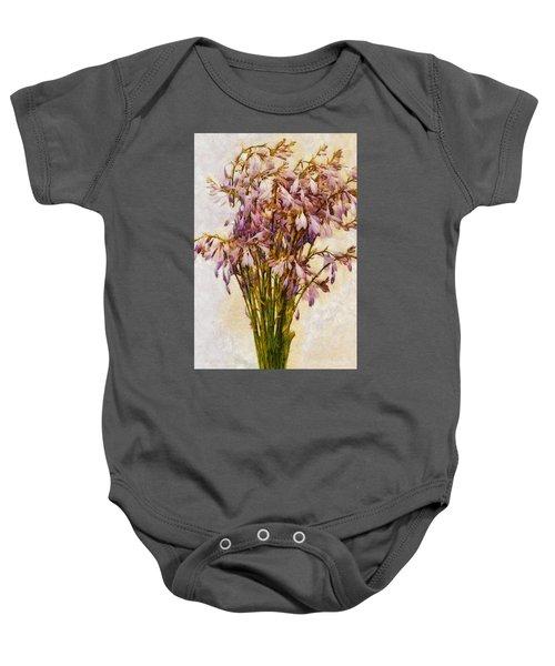 Bouquet Of Hostas Baby Onesie