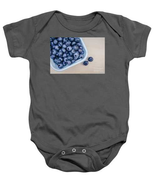 Bowl Of Fresh Blueberries Baby Onesie