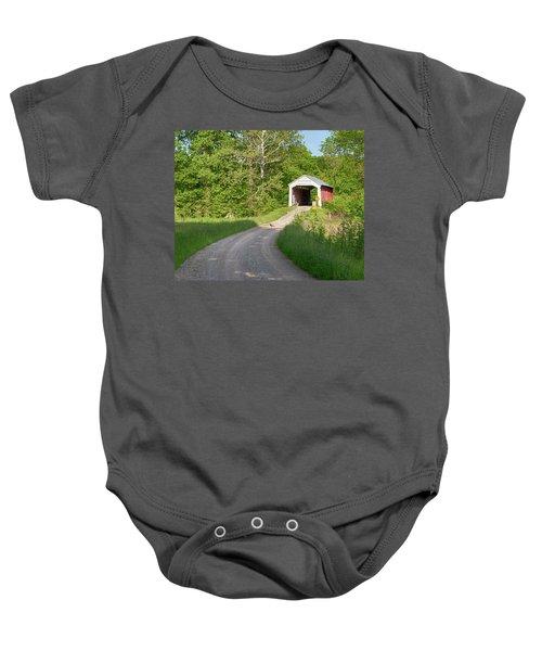 Bowser Ford Covered Bridge Lane Baby Onesie