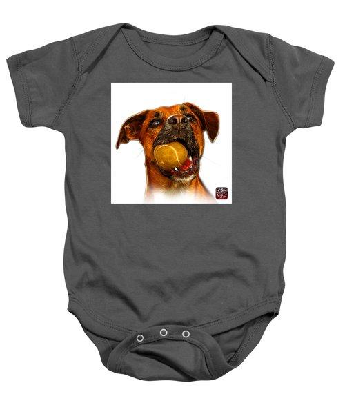 Boxer Mix Dog Art - 8173 - Wb Baby Onesie