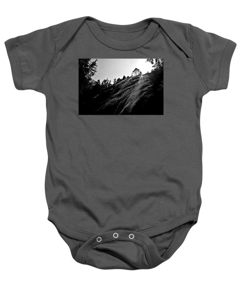 Bridal Veil Falls In Black And White Baby Onesie