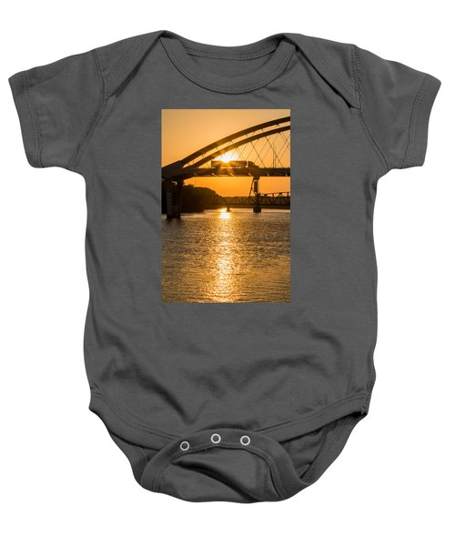Bridge Sunrise #2 Baby Onesie