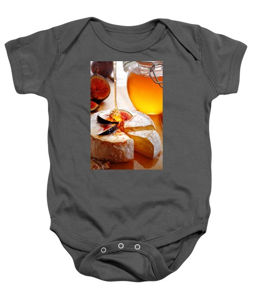 Brie Cheese With Figs And Honey Baby Onesie