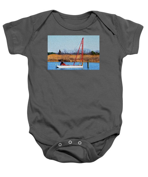 Bright Paintery Barge Baby Onesie