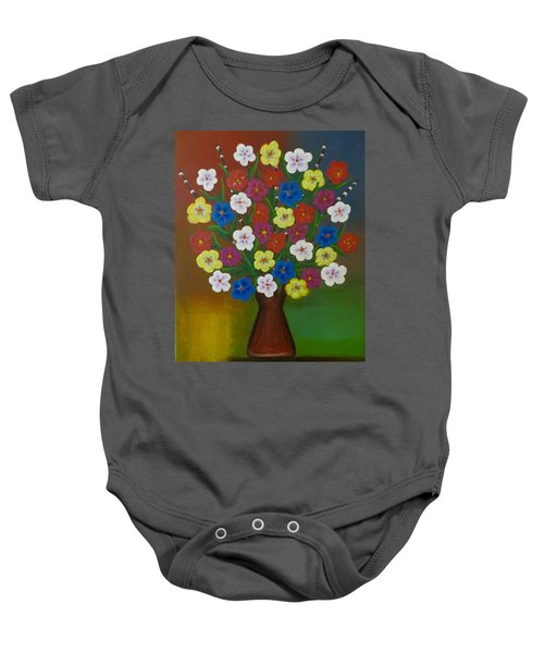 Brilliant Bouquet Baby Onesie by Teresa Wing