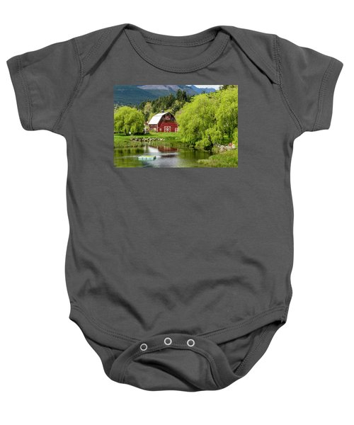 Brinnon Washington Barn Baby Onesie