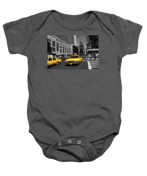 New York Yellow Taxi Cabs - Highlight Photo Baby Onesie