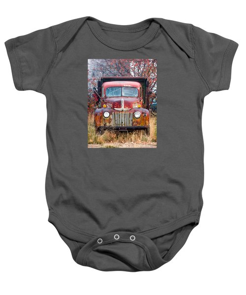 Old Abandoned Truck Baby Onesie
