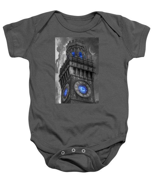 Bromo Seltzer Tower Baltimore - Blue  Baby Onesie