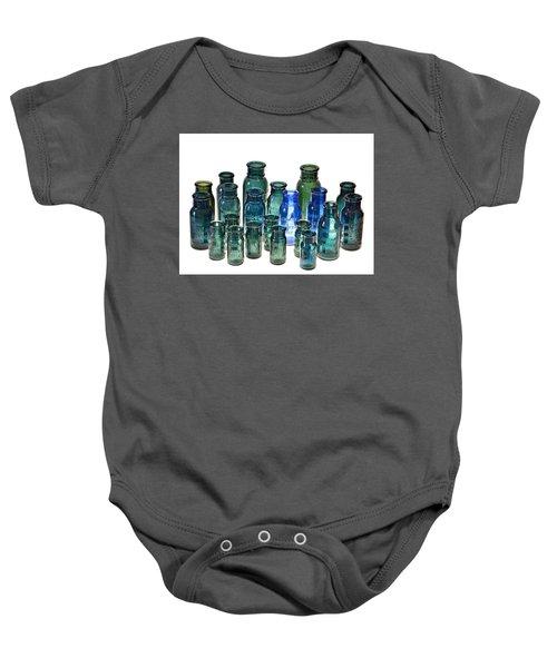 Bromo Seltzer Vintage Glass Bottles Collection Baby Onesie