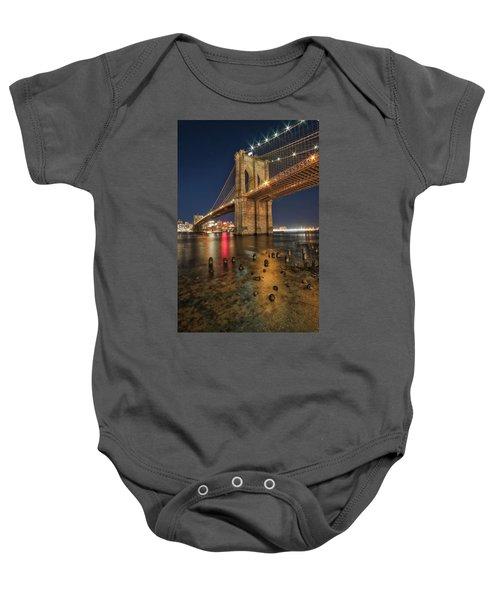 Brooklyn Bridge At Night Baby Onesie