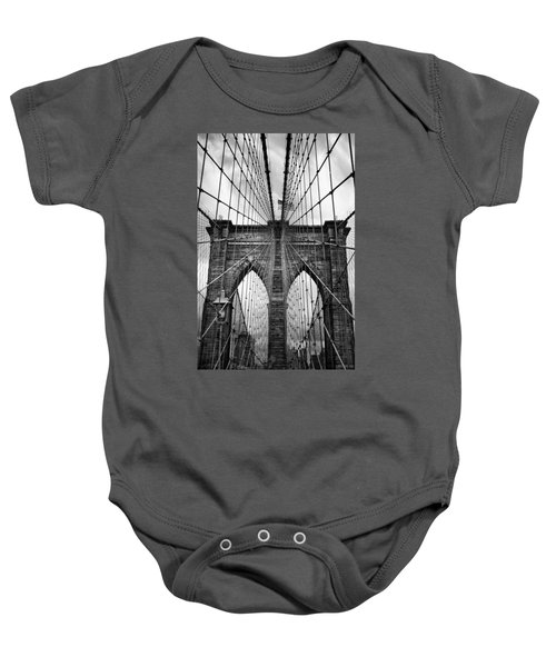 Brooklyn Bridge Mood Baby Onesie