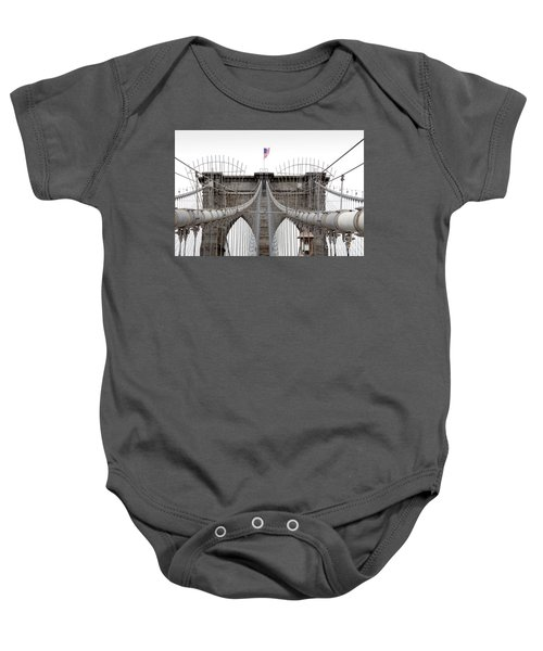 Baby Onesie featuring the photograph Brooklyn Bridge Top by Peter Simmons