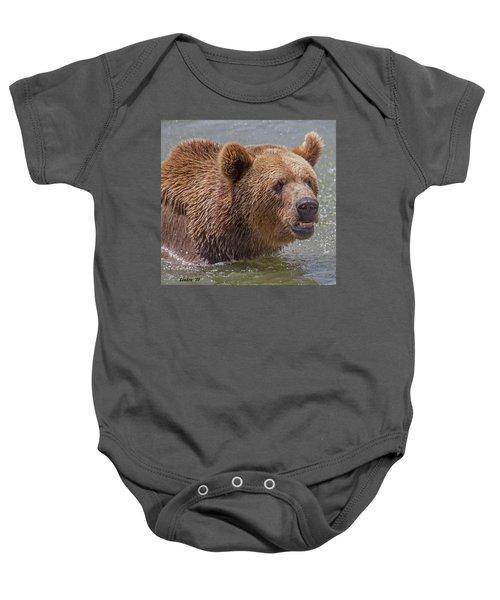 Brown Bear 10 Baby Onesie
