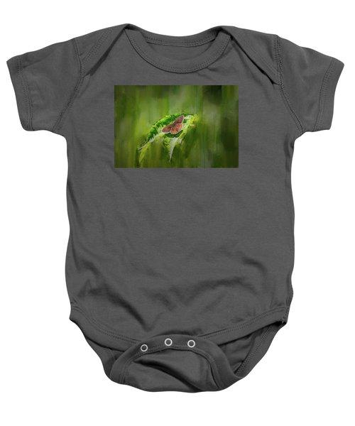 Brown Butterfly #h6 Baby Onesie