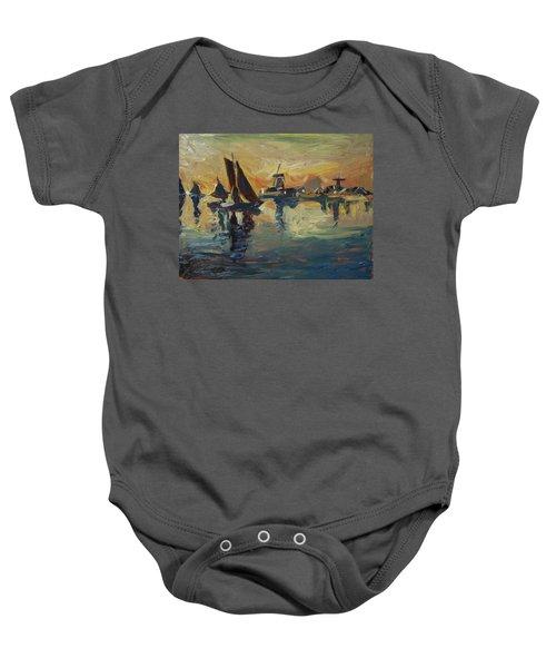 Brown Fleet On The Zaan Baby Onesie