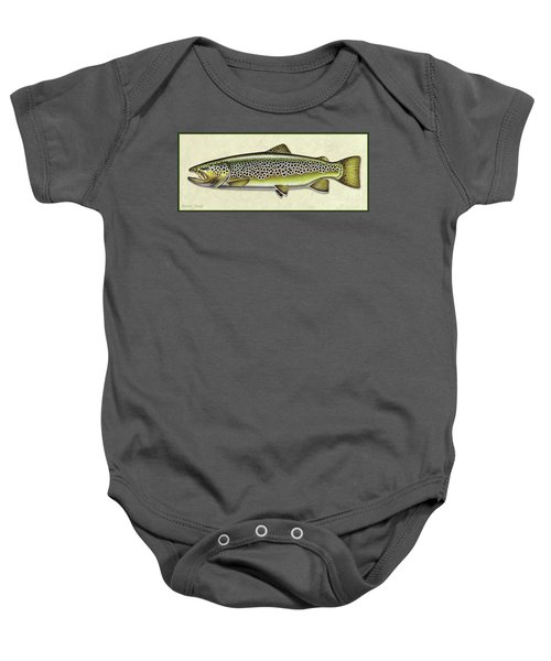 Brown Trout Id Baby Onesie
