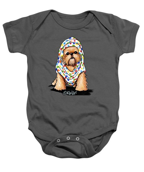 Brussels Griffon Beauty Baby Onesie by Kim Niles
