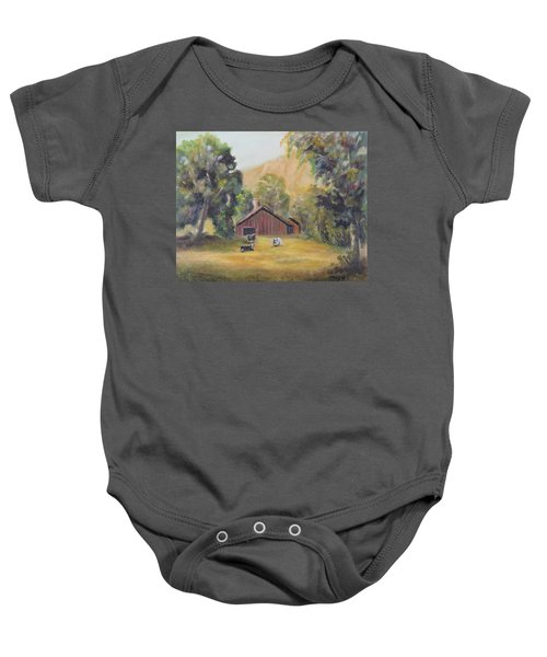 Bucks County Pa Barn Baby Onesie